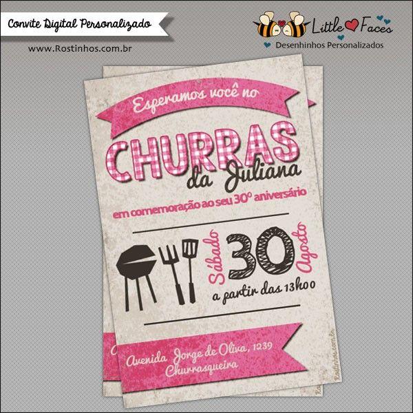 Convite Festa Churrasco Para Imprimir Boteco Pinterest Party