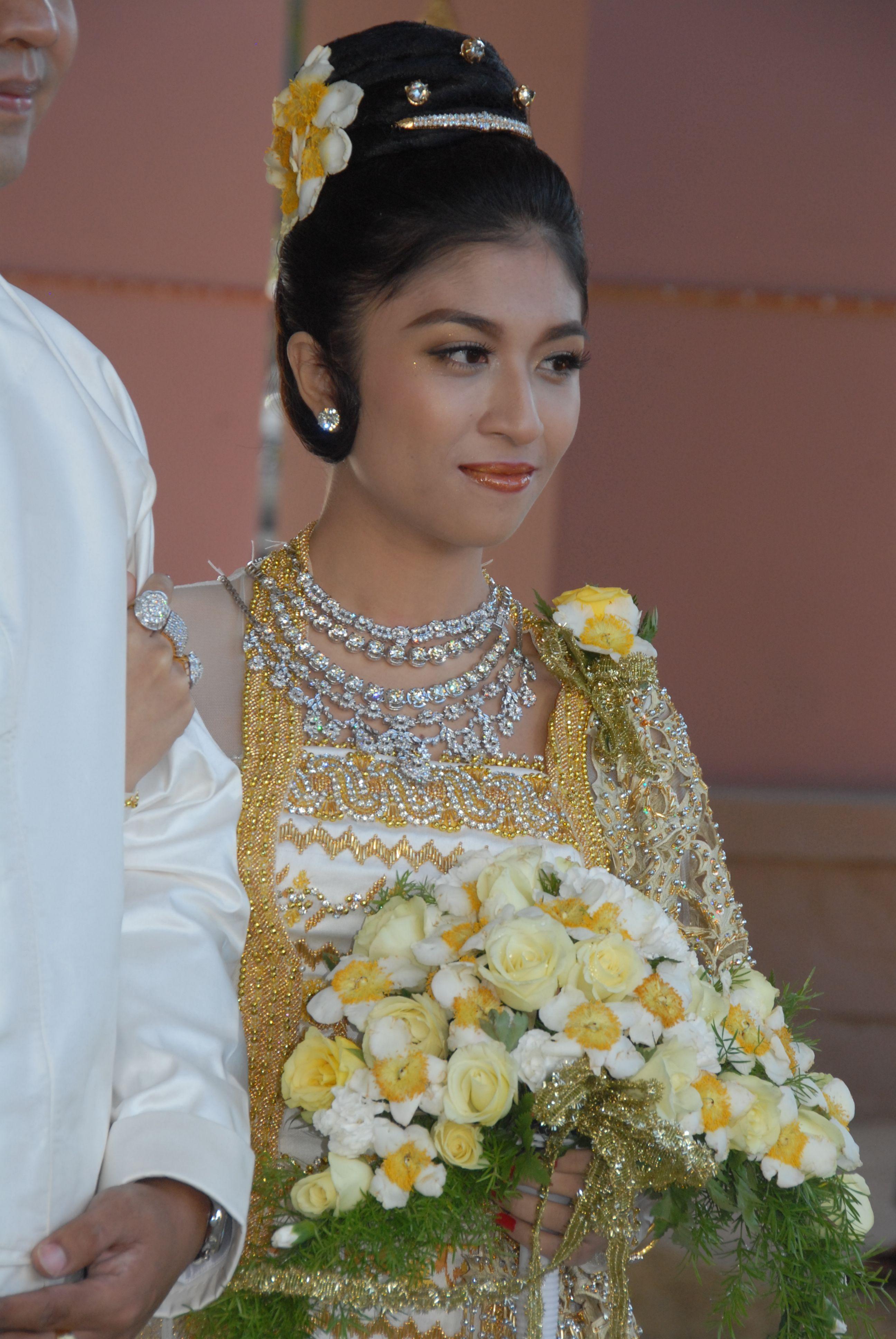 Myanmar Traditional Wedding Hairstyles