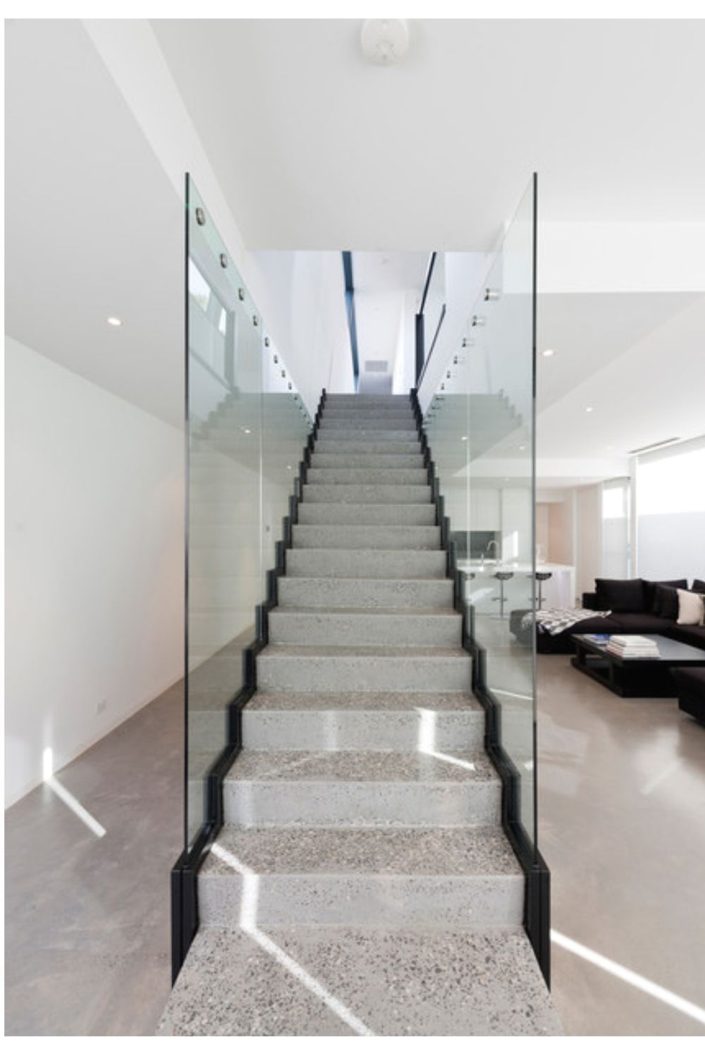 Best Attractive Straight Stairs Design For Home Staircase 400 x 300