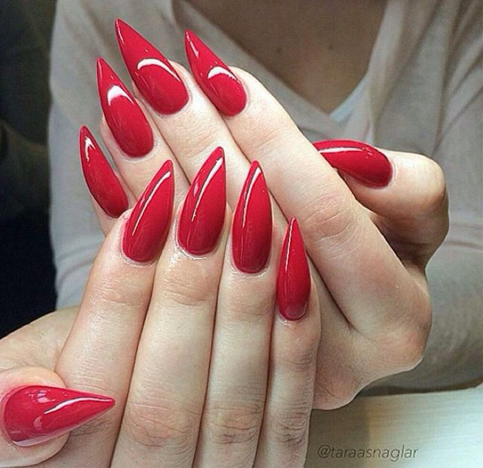 Red Stiletto Nails Red Stiletto Nails Red Acrylic Nails Prom Nails