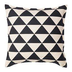 Johanne Cushion Cover Natural Black 26x26 Ikea Cojines