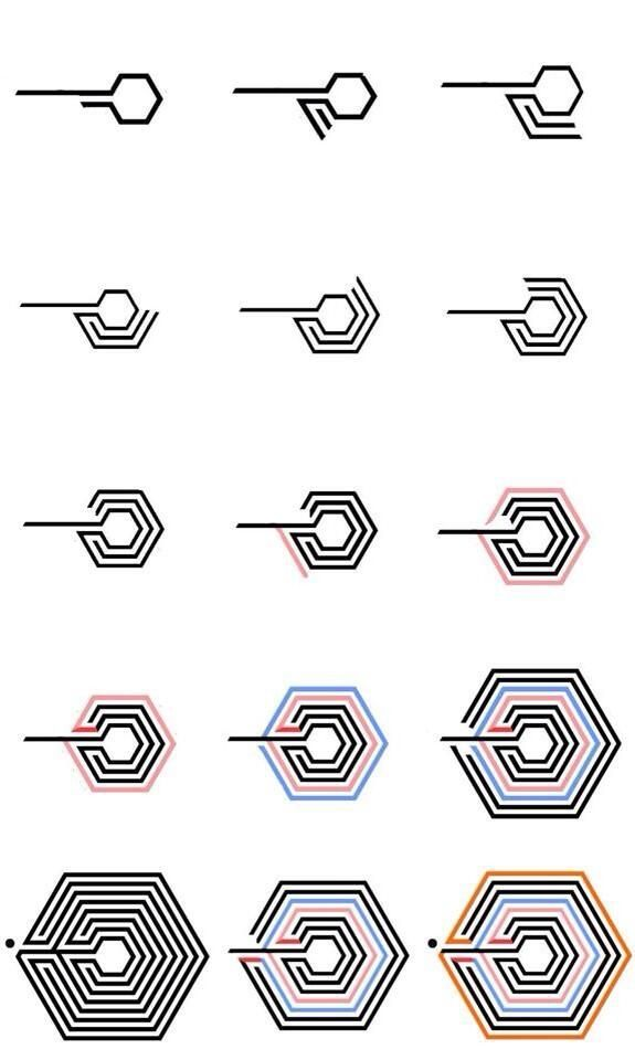 If You Re Struggling To Draw Exo S New Logo Here Is An Easy Way