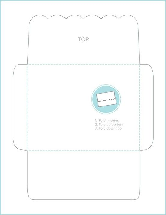 picture about Scalloped Edge Template Printable named Adorable SCALLOPED-Gain ENVELOPE TEMPLATE by means of LibraryMouse Pao