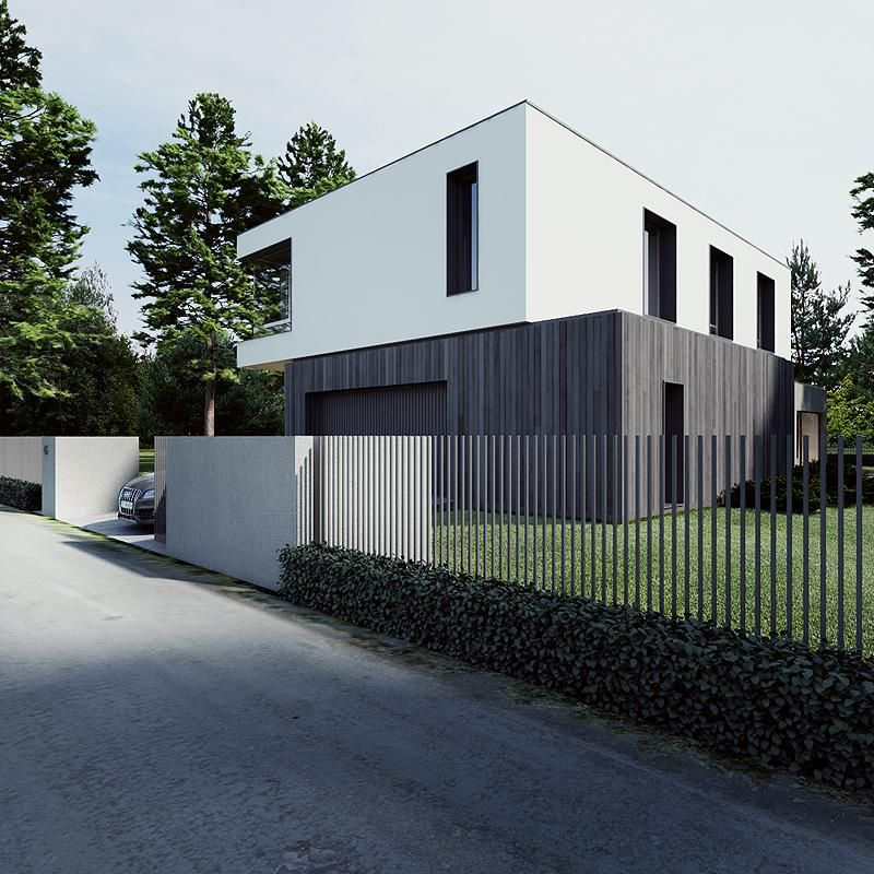Clever Fence (m House By Tamizo Architects Group, Poland) Ideas