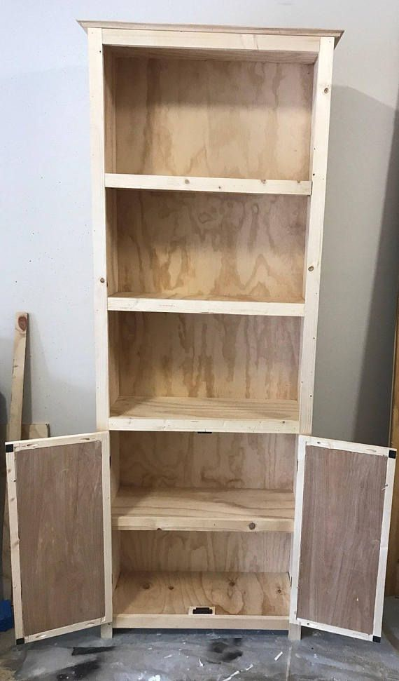 Barn Door Bookshelf In 2020 Rustic Bookshelf Bookshelves