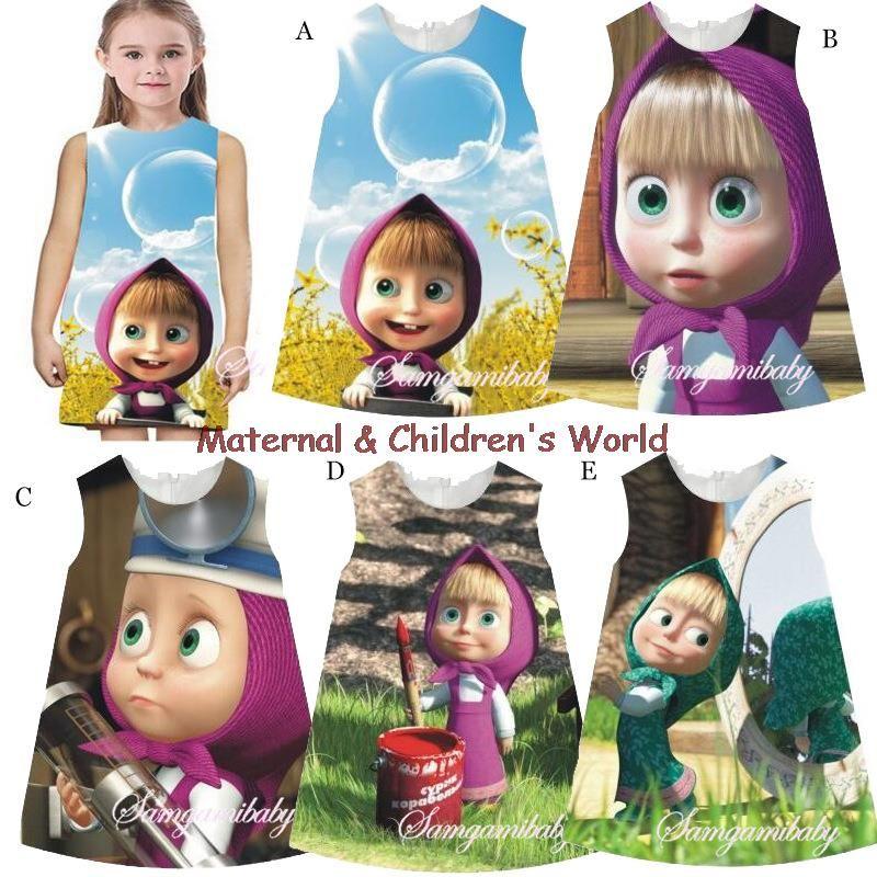 $20.99 (Buy here: https://alitems.com/g/1e8d114494ebda23ff8b16525dc3e8/?i=5&ulp=https%3A%2F%2Fwww.aliexpress.com%2Fitem%2F2016-Bay-Girls-Dress-Masha-and-Bear-Cotton-O-neck-Back-Zip-up-Children-Costume-Dresses%2F32697249020.html ) 2016 Bay Girls Dress Masha and Bear Cotton O-neck Back Zip-up Children Costume Dresses Printed Cute Sleeveless Dresses for just $20.99