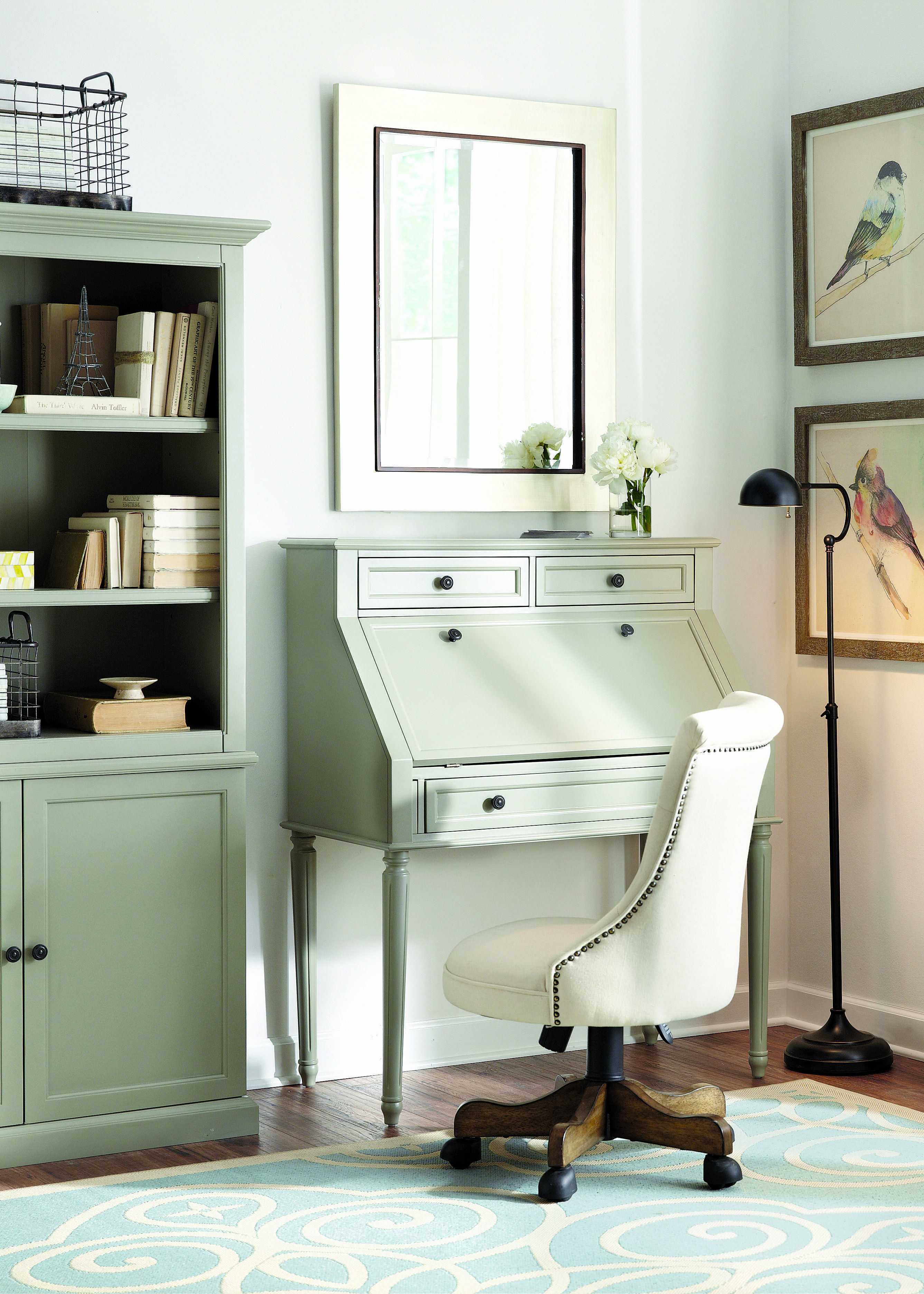 A secretary desk makes the most of limited space the fold