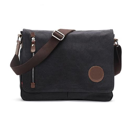 Casual Canvas Satchel Messenger Bag for Traveling Camping