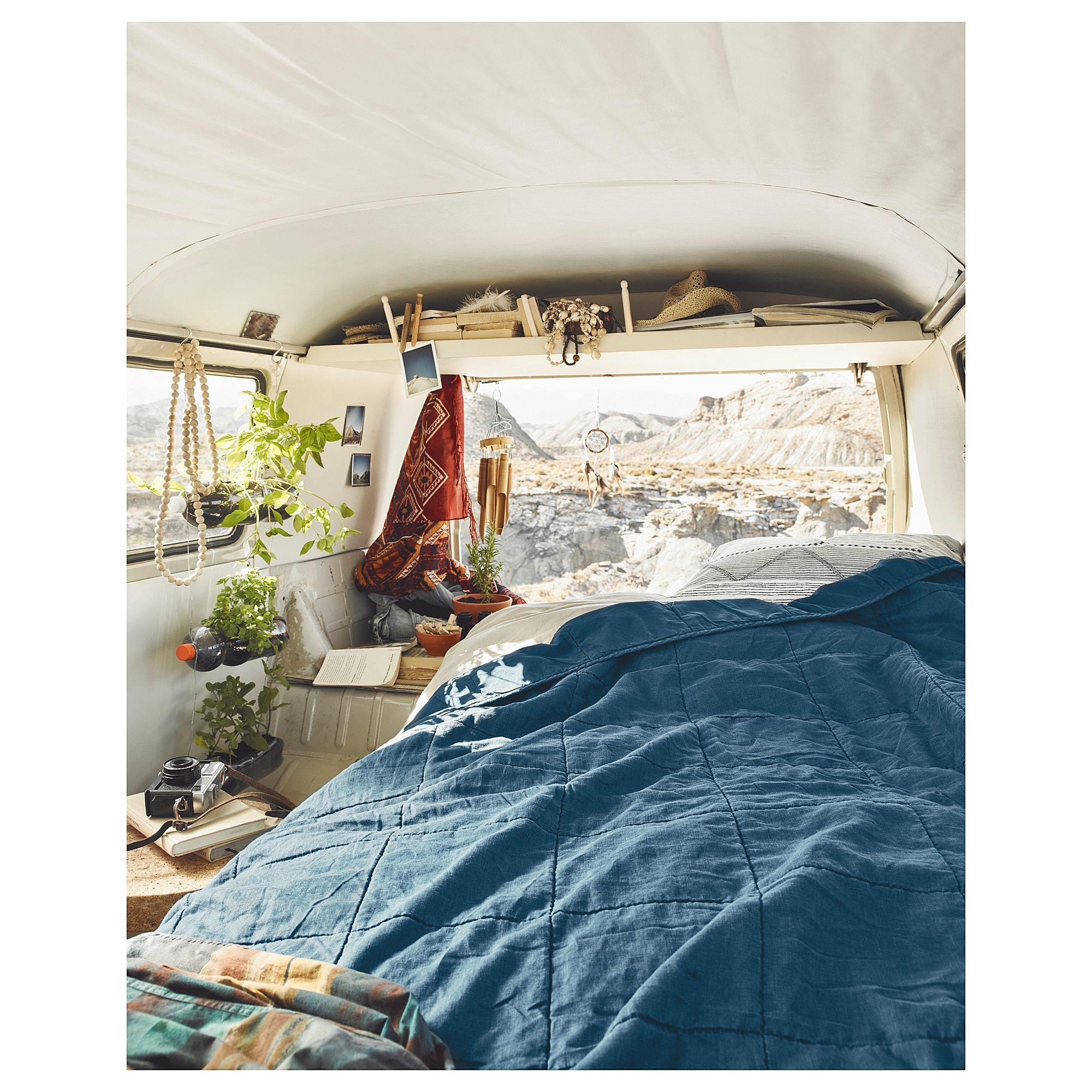 GULVED Bedspread dark blue 260x250 cm Bed spreads