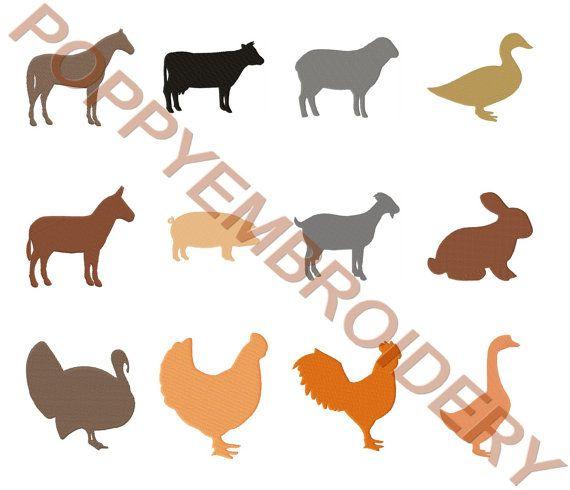 Farm Animal Design For Embroidery Machine Animaux Ferme Designs