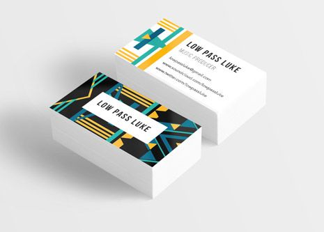 Low Pass Luke Music Producer Business Card Design Martha Williams Graphic Design Www Martha Williams Com Music Poster Design Card Design Business Card Design