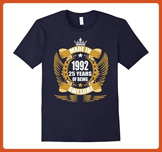 Mens 25th Birthday Gift Idea 25 Year Old Boy Girl Shirt 1922 Large Navy