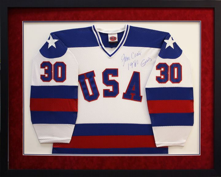 custom framed autographed usa hockey jersey custom frame design by art and frame express in