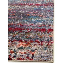 alfombra de tejido plano benuta Trends Cuma Multicolor / Purple 160×220 cm – alfombra vintage en aspecto usado