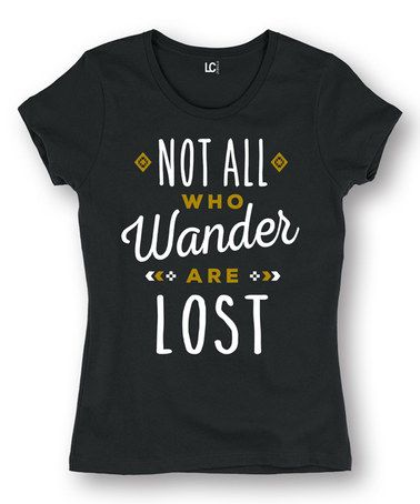 Another great find on #zulily! Black 'Wander' Fitted Short-Sleeve Tee #zulilyfinds