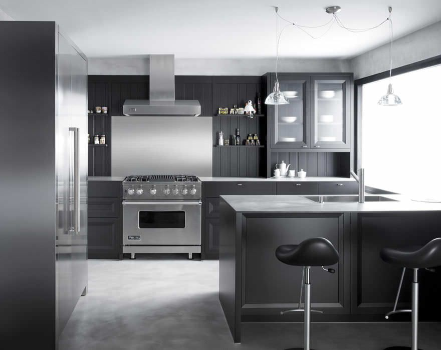 contemporary kitchen / wood veneer / in wood / solid wood sitmmug, Kuchen dekoo
