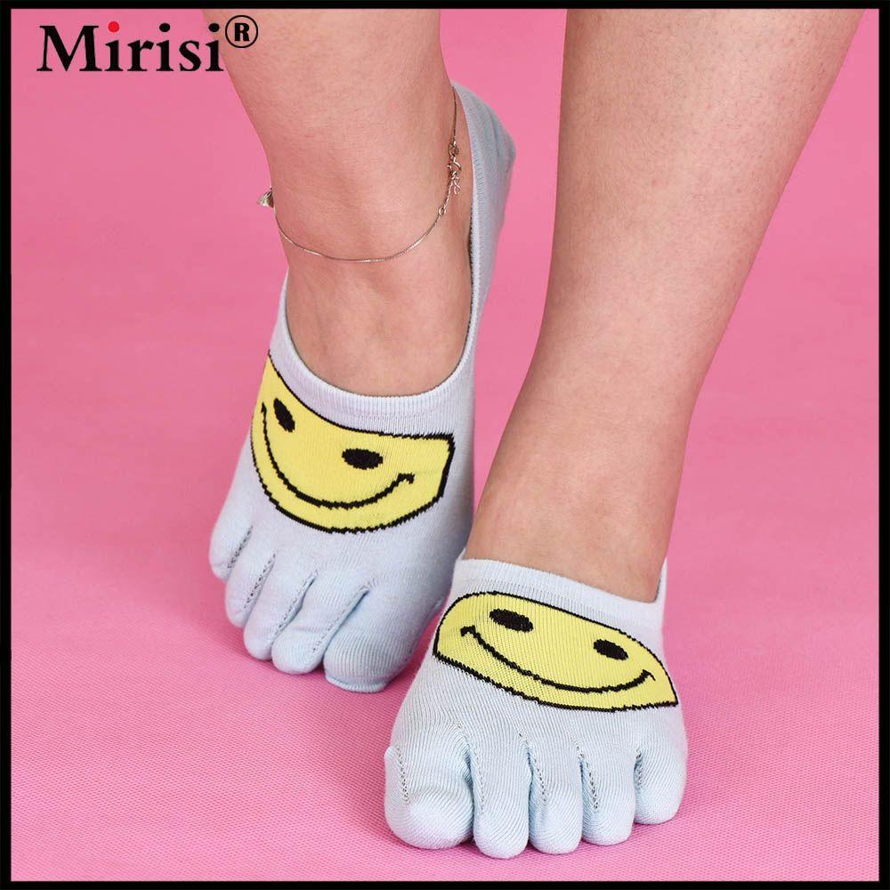 Invisible Breathable Non-slip Asakuchi Toe Socks Cotton