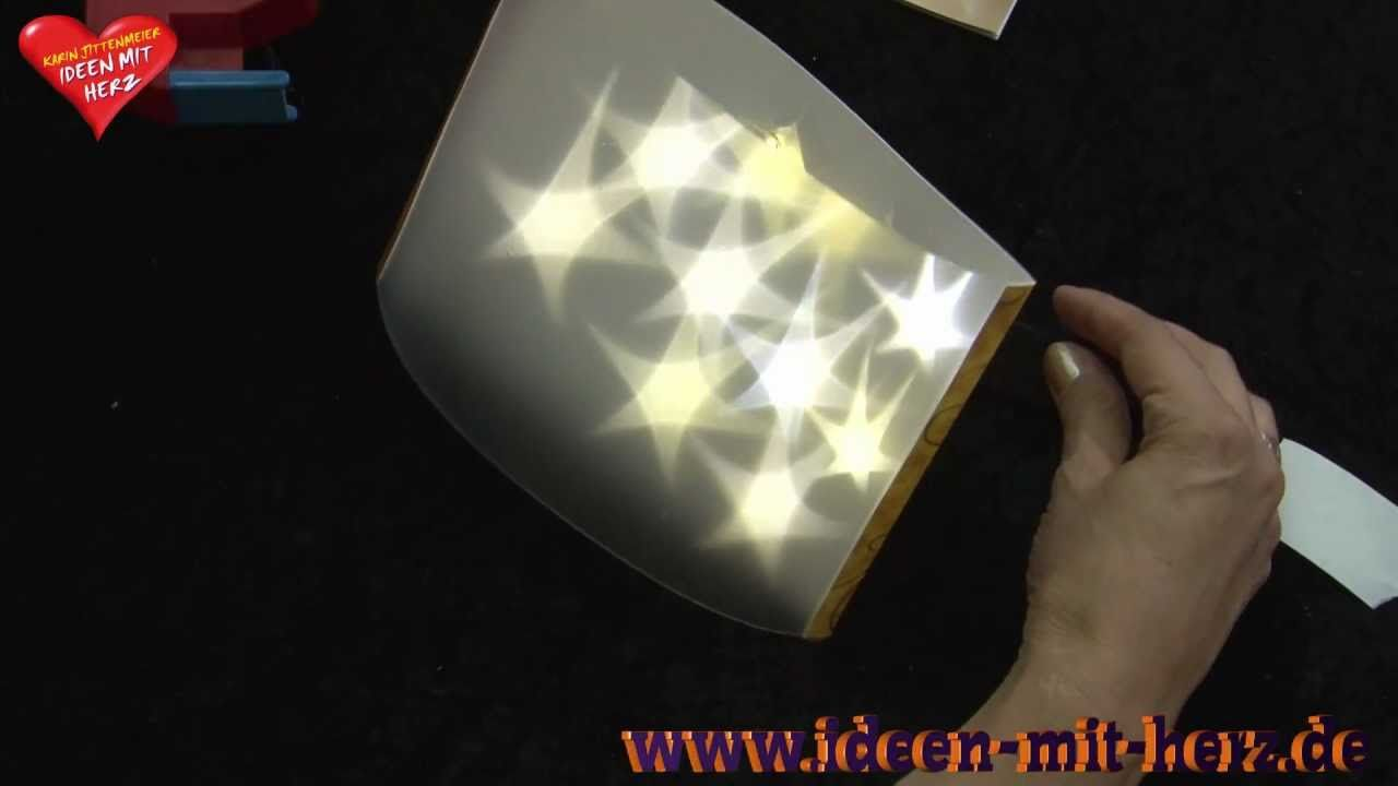 Ideen mit Herz - Stehleuchte aus Lichteffekt-Folie und LED Draht ...