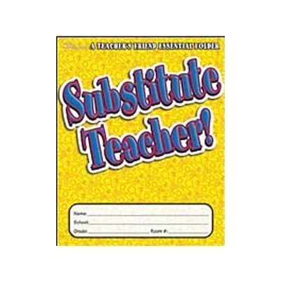 Teachers Friend Substitute Teacher Essential Folder Lesson Planner