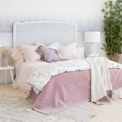 Edred n terciopelo lavado rosa suave edredones cama - Zara home cortinas dormitorio ...