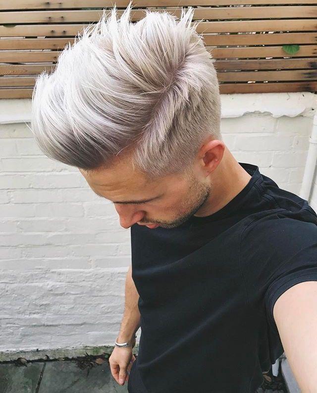 Men S Hair Silver Hair White Blonde Hair Bleached Hair