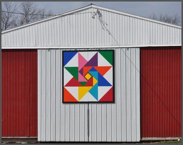 County C Little Sturgeon Marcia S Star Barn Quilt Patterns Barn Quilts Barn Art