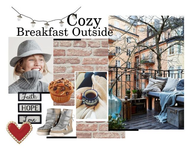 """""""❤ Cozy Breakfast Outside ❤"""" by karmaofcharmeofficial on Polyvore featuring moda, J.Crew, New View, cool, Boots, cozy, stylish e fallwinter"""