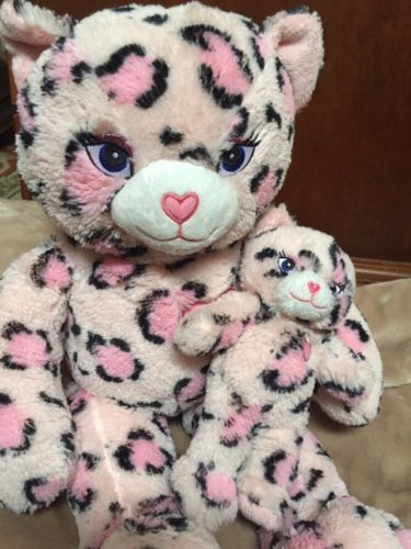 Build a bear sassy kitty pink #leopard cat #plush #stuffed 18in with baby,  View more on the LINK: http://www.zeppy.io/product/gb/2/371523932401/