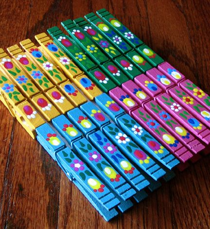 painted clothespins.... my daughter made some of these for me, I used them for chip bag clips!