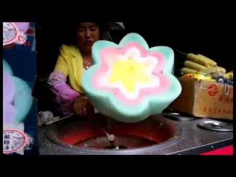 Awesome Flower Shaped Cotton Candy In China Youtube Algodao Doce