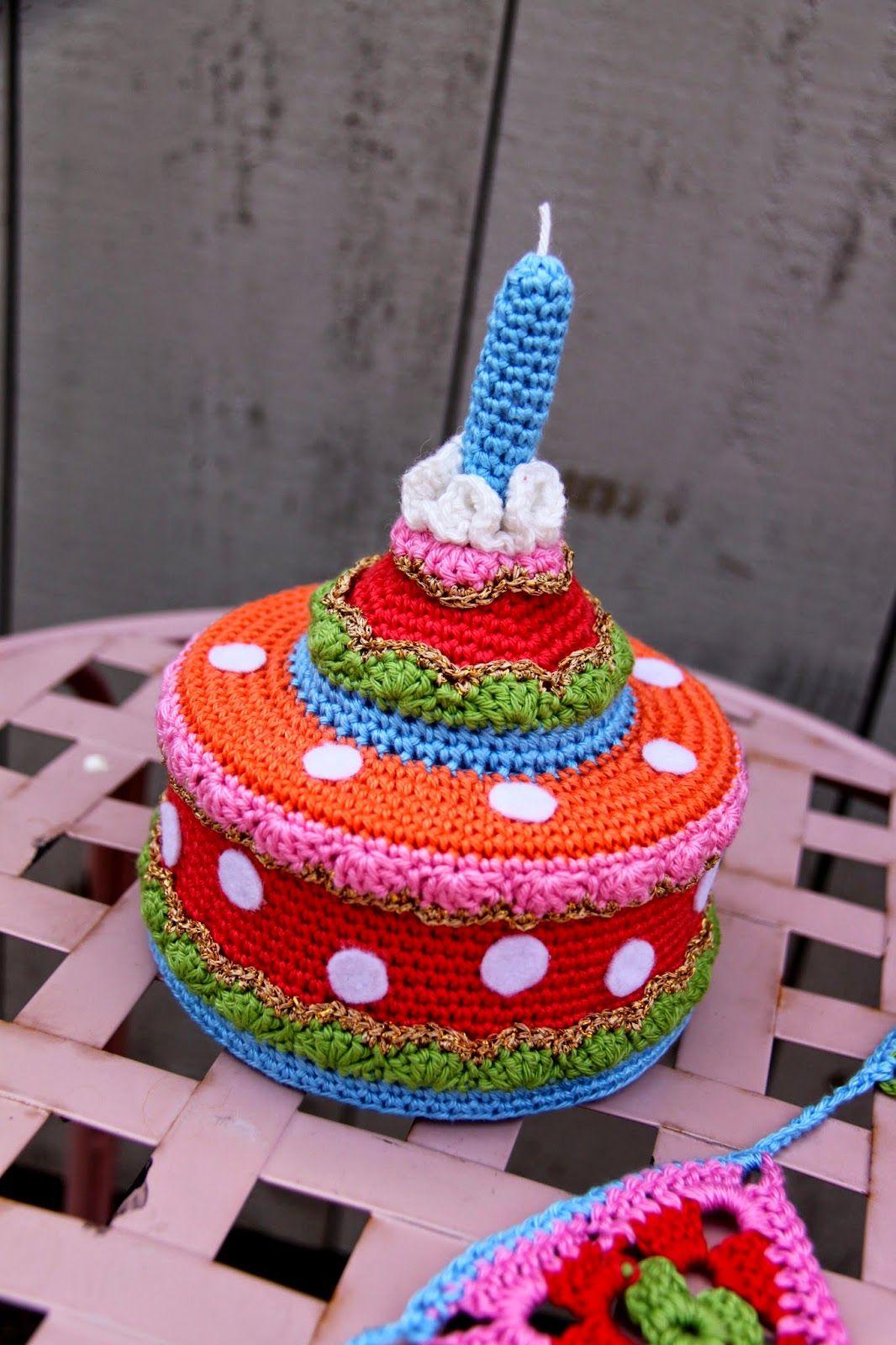 Taart Haken Met Patroon Cake Crochet Tutorial Haken Pinterest