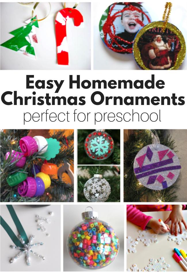 Homemade Christmas Ornaments Perfect For Preschool No Time For Flash Cards Kids Christmas Ornaments Christmas Ornaments Homemade Christmas Ornaments