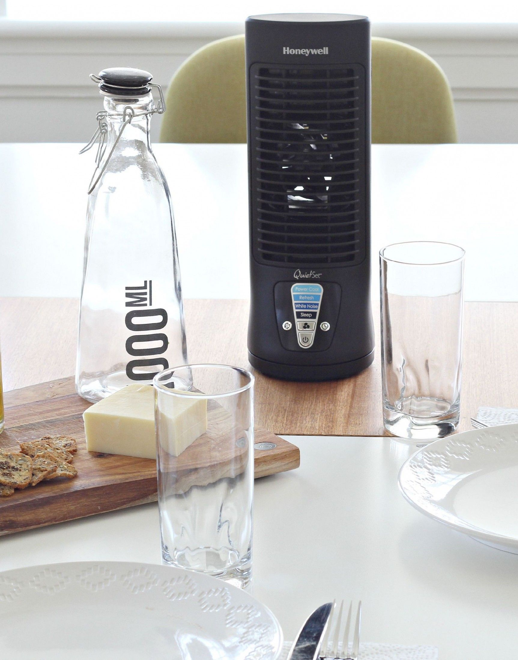 Keep your food cool in the heat with this Honeywell Slim Mini Tower fan. Sponsored.
