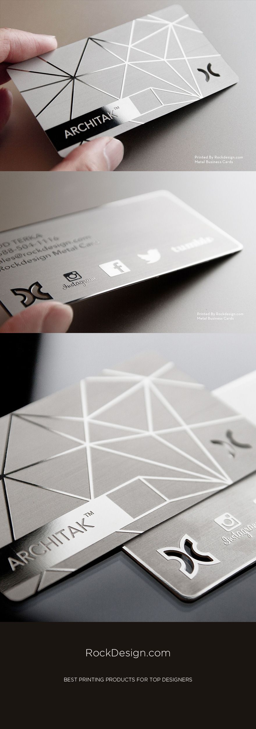 slick letterpress white minimalist design business card for a