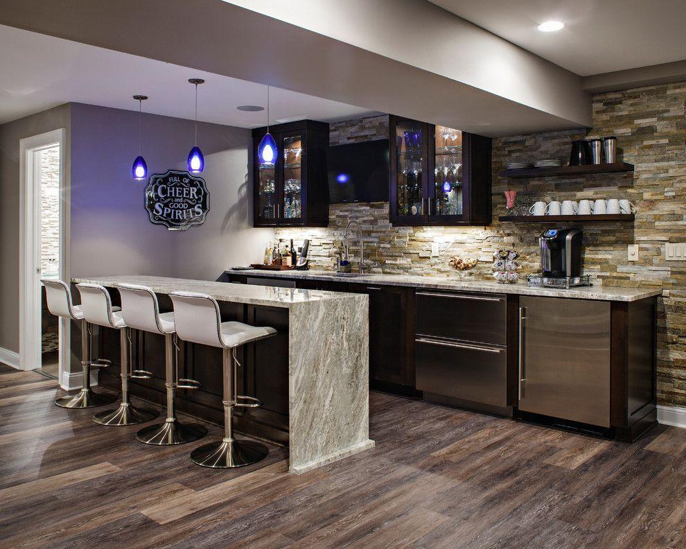 Marvelous Basement Bar Cabinet Ideas Home Bar Transitional With Floating Shleves  Floating Shleves Cabinet Lighting