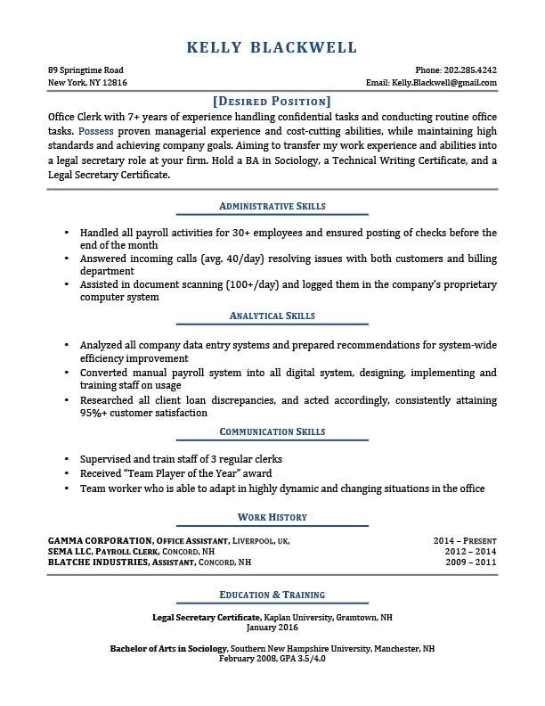 Dark Blue Career Changer Resume Template Sonia McCurdy - resumes for career changers