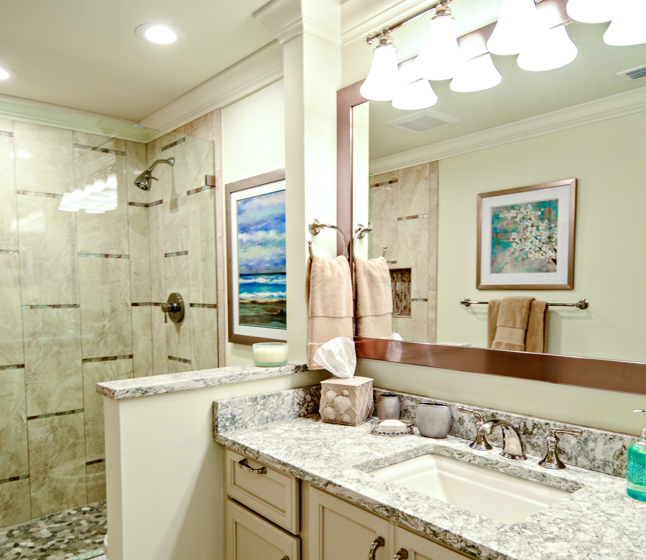 Amelia Island Bathroom Remodel By Design Line Works With Images Residential Interior Design Custom Kitchens Design Interior Design Services