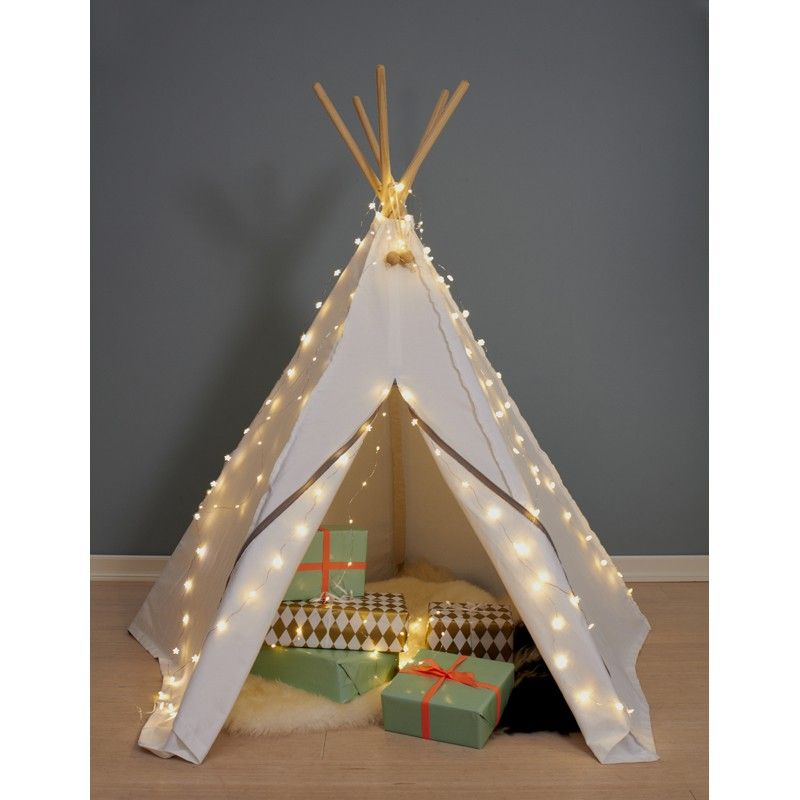 Indianerzelt Hippie Tipi aus Stoff, natur-weiss, von roommate ...