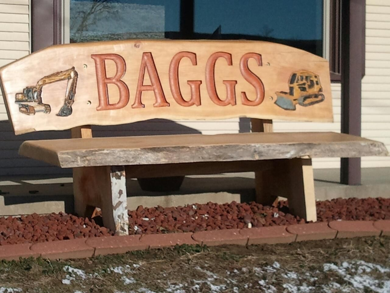 Create A Custom One Off Bench By Adding A Family Name Or Design With Images Design
