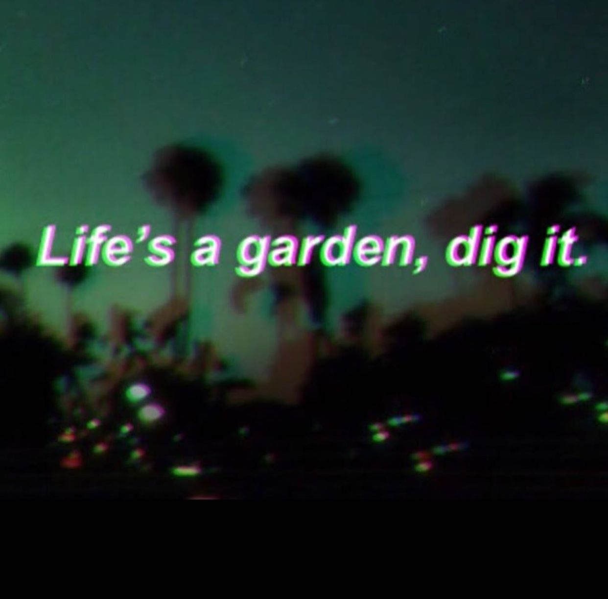 Grunge Green Quote Aesthetic Background Wallpaper Simple