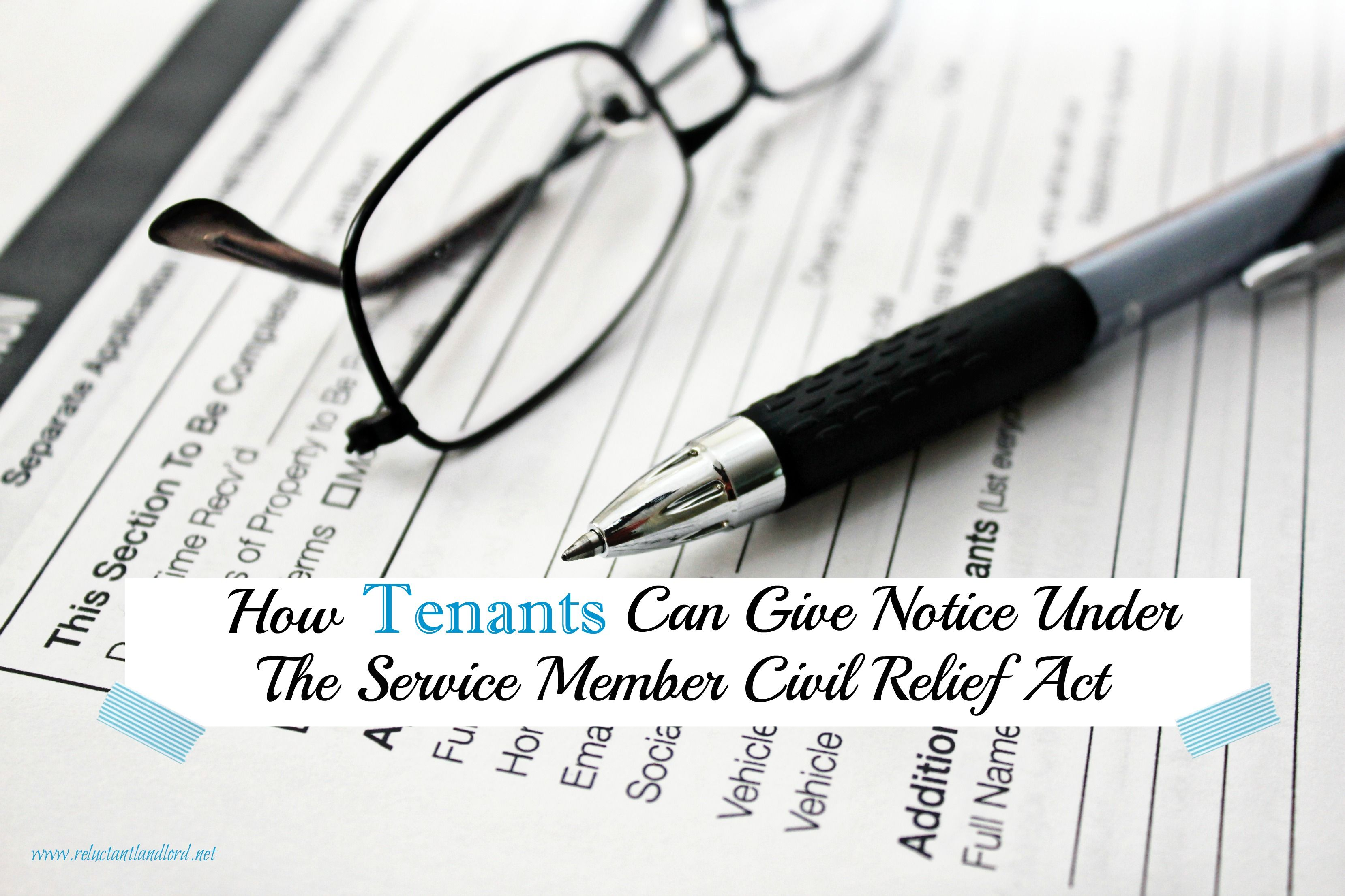 How tenants can give notice under the service member civil