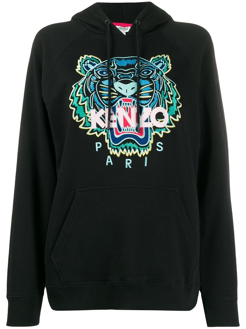 Kenzo Tiger Embroidered Hooded Cotton Sweatshirt In Black Modesens In 2021 Hooded Sweatshirts Kenzo Sweatshirt Sweatshirts [ 1334 x 1000 Pixel ]