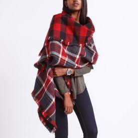 060756172 Roots - Plaid Wrap   Idées cadeaux   Tartan plaid scarf, Plaid scarf ...