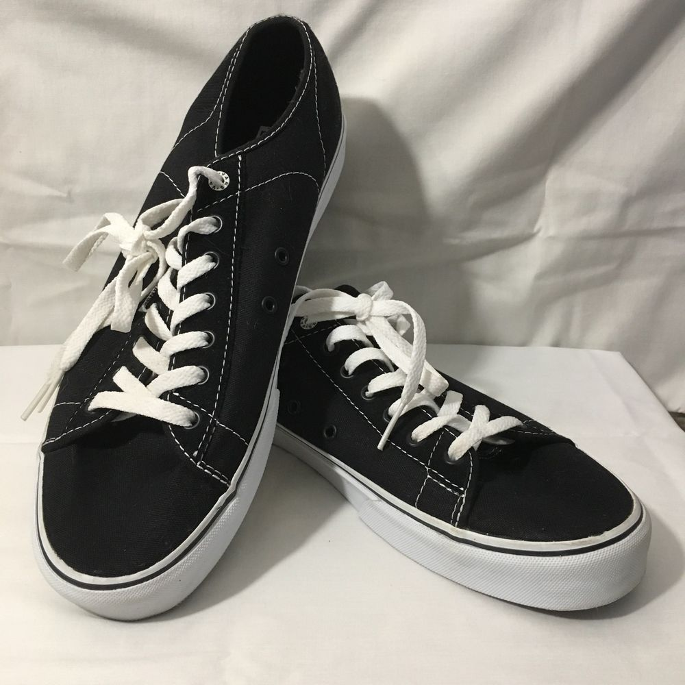 6eefeaf311b491 Mens Size 13 VANS Off The Wall Black Canvas Shoes Casual Sneakers ...
