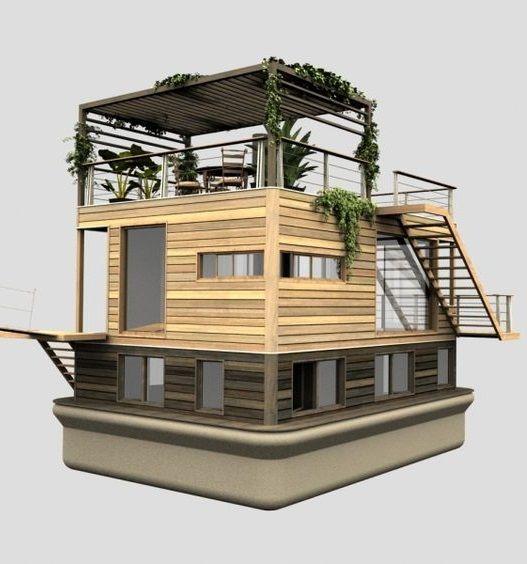 Tiny Home Designs: Houseboat – Casa Flotante.
