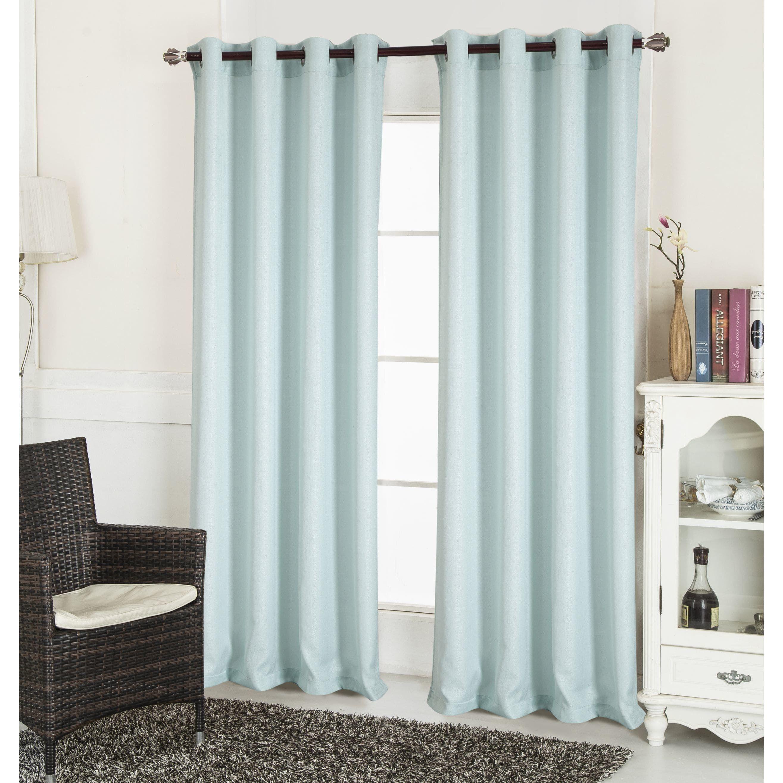 The Gray Barn Yturria Textured 90 Inch Curtain Panel Aqua Blue