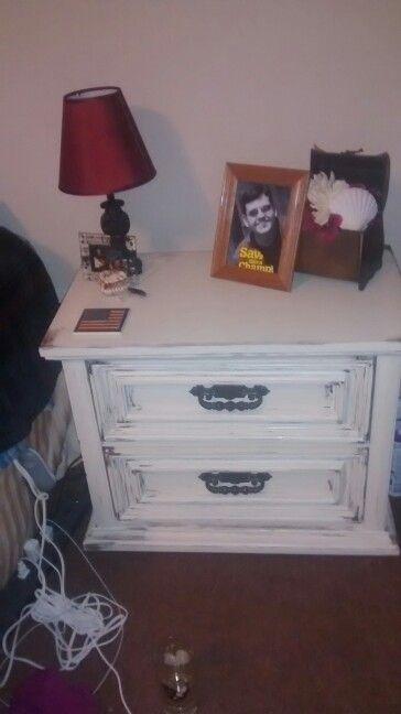 Eggshell nightstand
