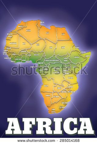 contemporary map of Africa, this is a modern map of the continent of ...