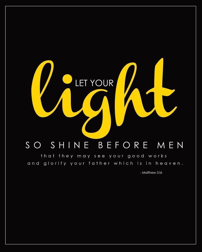 Light Shine Printable | Just Rhonda