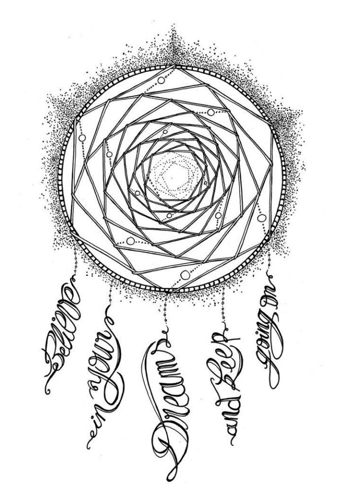 Dream Catcher Coloring Pages Adult Coloring Pages